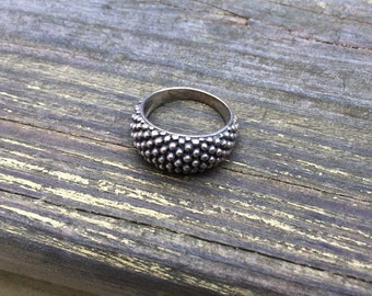 Dotted Sterling Silver Cluster Ring
