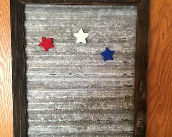 rustic magnetic/memo  board 18x14