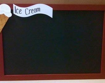 Ice Cream Chalkboard Menu