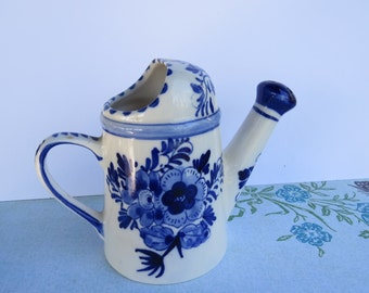 Blue and White Delft Blue Watering Pitcher Miniature