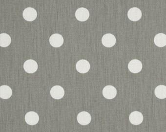 Premier Prints Cotton Twill Fabric, Grey Polka Dot Fabric