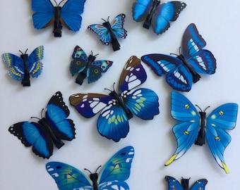 Blue Butterfly Hair Clip