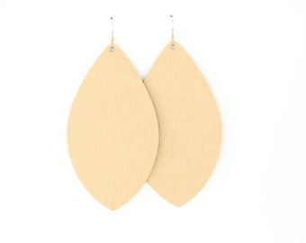 PRE-ORDER leather earrings