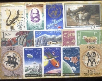 50 USED POSTAGE STAMPS