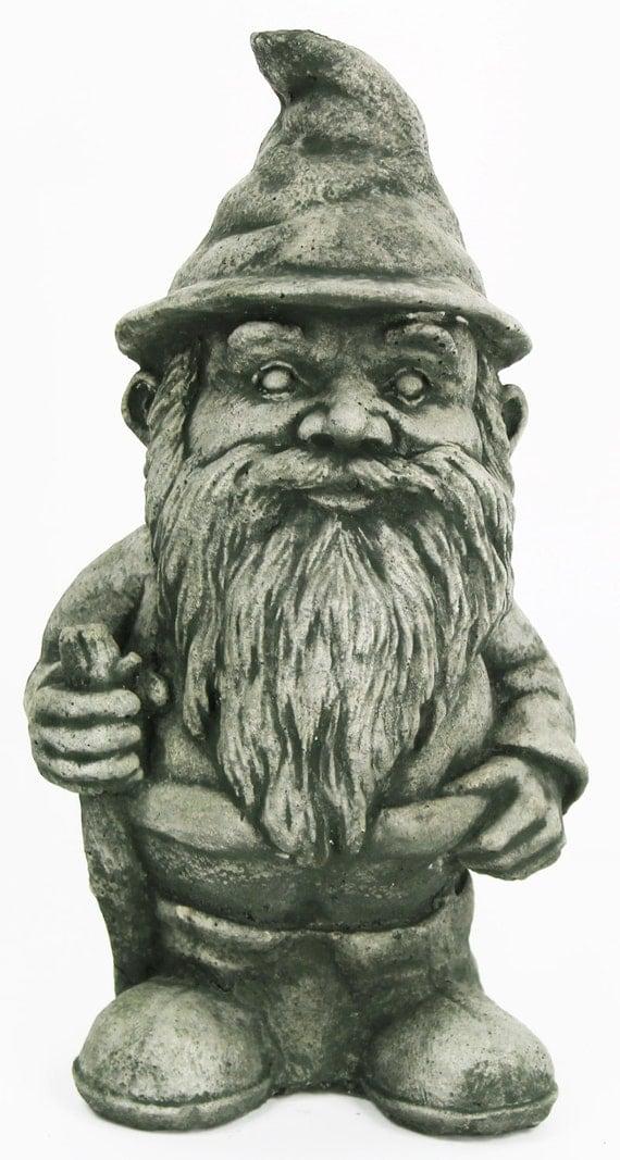 Gnome Garden: Hiking Garde Gnome Cement Decorative Concrete Garden Statue