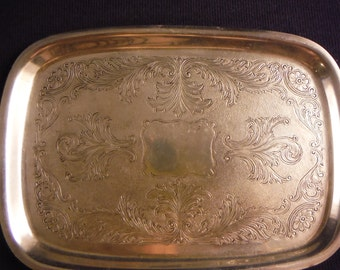 Vintage Art S Co. Silverplated Small Tray