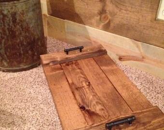Rustic Tray - Tray - Wood Tray - Decorative Tray