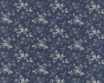 """Blue Barn by Laundry Basket Quilts """"Midnight""""  sold by one half yard"""