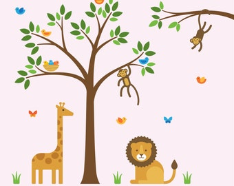 Jungle Safari Decal, Jungle Safari, Jungle Safari Wall - X-Large