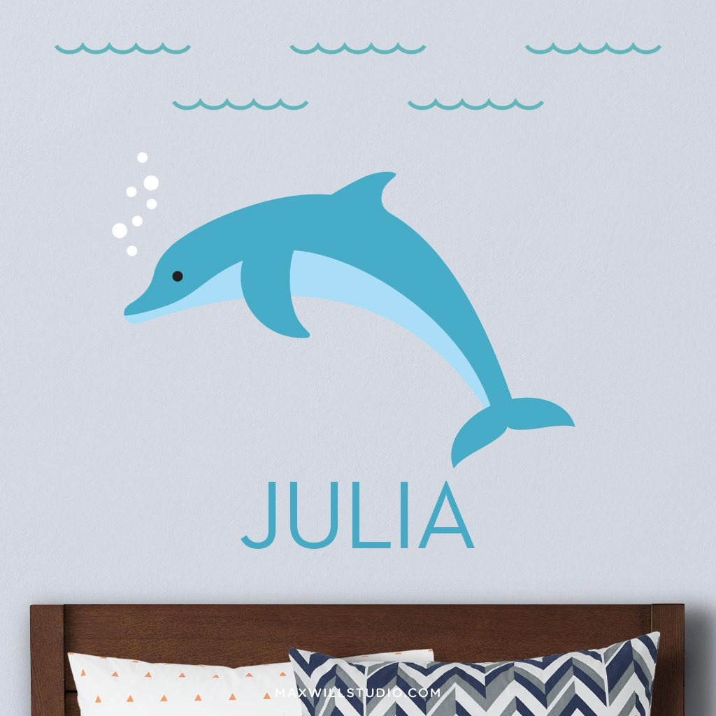 Dolphin wall decal dolphin decal dolphin wall sticker ocean description this personalized owl wall decal amipublicfo Image collections