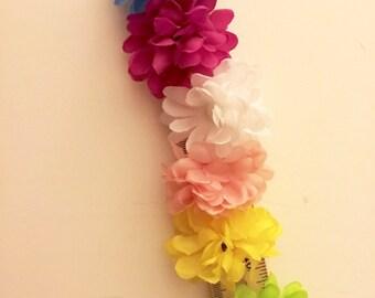 flower puff ties.