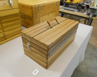 Handmade zebrawood tackle box