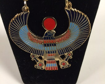 Egyptian Gold Plated Brass Phoenix Necklace Made in Egypt