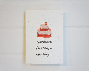 Chocolate Plantable Card