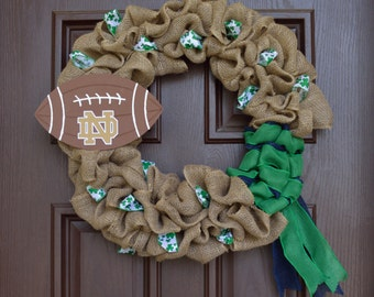 Norte Dame Burlap Wreath