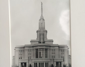 Hand Made Payson Temple Print