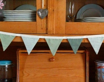 Bunting - green spots & stripes