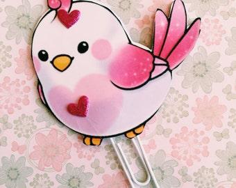 Paper clip love bird