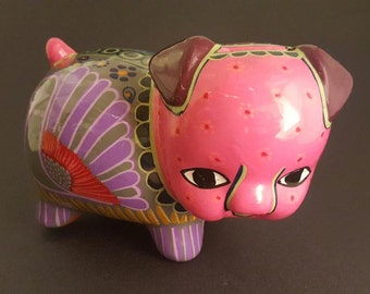 Hand Painted Ceramic Mexican Piggy Bank