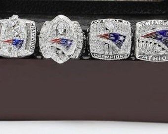 New England Patriots Super Bowl Replica Ring Set (6) Years 85 01 03 04 07 11
