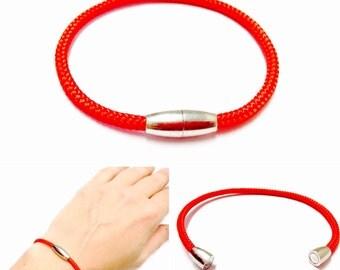 Red String Bracelet - Paracord String Bracelet - Magnetic String Bracelet - Mens String Bracelet - Womens String Bracelet - String Jewelry