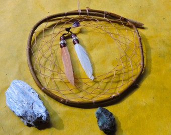 Willow dreamcatcher with amethyst bead