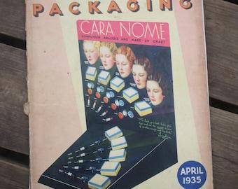 "Book ""Modern Packaging"" April 1935 vintage"