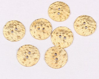 10 buttons 25mm, metal, gold, 2 holes (3995)