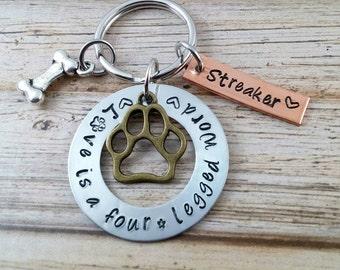 Custom Dog Keychain~ Custom Dog Tag~ Dog Lover Gift~ New Puppy Gift~ Pet Lover Gifts