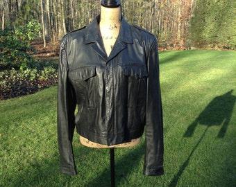 Vintage 80's Wilsons Moto Jacket