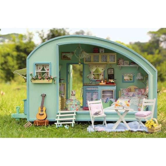 Items Similar To DIY Wooden Dollhouse Caravan Miniatures
