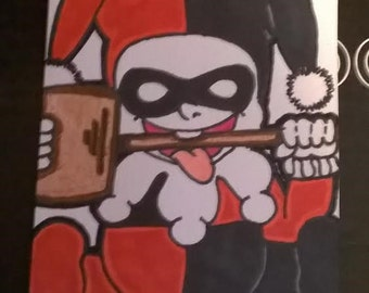 Toddler Harley w Mallet Quinn ACEO Card Artist Trading Card