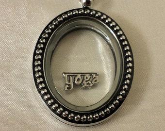 Yoga Floating/Memory locket Charm