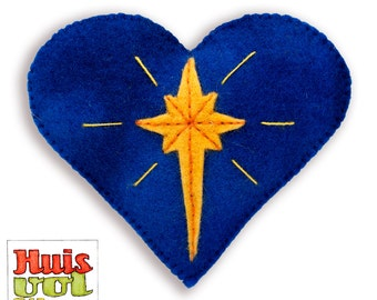 DIY Heart Star of Bethlehem