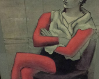 Picasso's Seated Acrobat/Modern Print