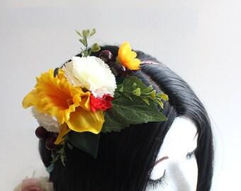 Mellow Yellow Flower Crown (Quarter Sized; Flower Girl Style)