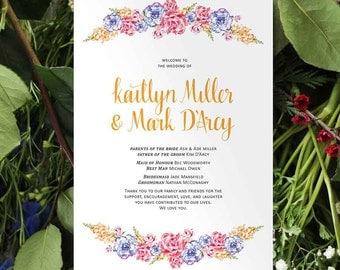 Wedding Ceremony Program // Floral Affair