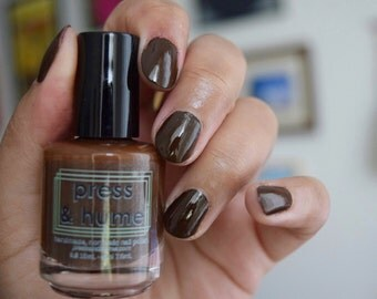 Gallatin - deep chocolate brown nail polish - Fall 2016 - handmade nontoxic nail polish