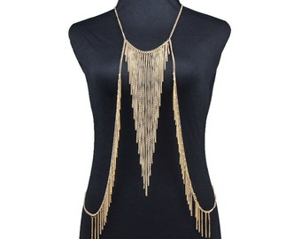 Gold Color  Multi Layer Necklace