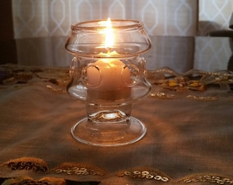 Handcrafted Glass Candle Holder size medium, designed and crafted in the Glorifire Studio