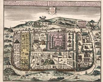 1730 Map of Jerusalem Israel