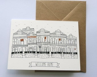 Welcome Home Illustrated Card