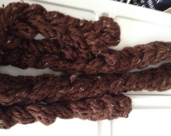 Finger Knitted Chunky Scarf