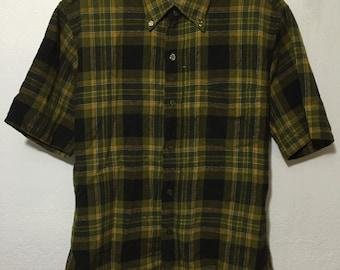 70's vintage pendleton short sleeve shirt virgin wool button down