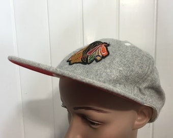 wool baseball cap hat mens gray indian patche
