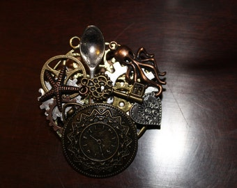 CLEARANCE 40% OFF-A0010-Steampunk Pin/Broche/Necklace