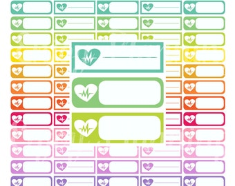 Workout cardio Planner Stickers Printable Workout stickers Cardio stickers Fitness stickers Cardio Exercise Stickers Cardio Tracker Stickers