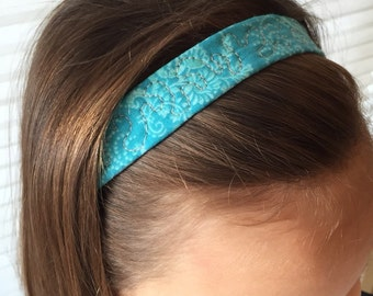 Quilted Blue Headband