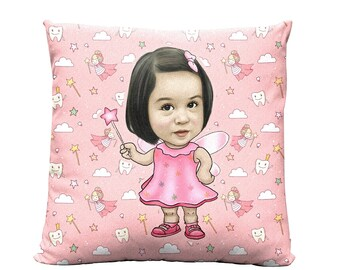 Tooth Fairy Pillow Girl, Tooth Fairy Pillow Boy, Personalized Tooth Fairy Pillow, Tooth Fairy Pattern, Tooth Fairy Gift, Blue Pillow