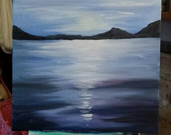 Original Oil Painting: Indigo Sunset